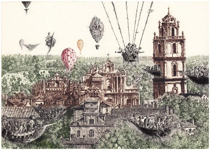 Skrydis virš miesto. Asmeninio archyvo nuotr. www.mariusliugaila.lt